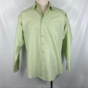 Scott Barber Green & White Checkered Shirt XXL